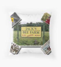 Jack's Bee Farm Throw Pillow