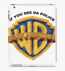 Warn a brother merchandise  iPad Case/Skin
