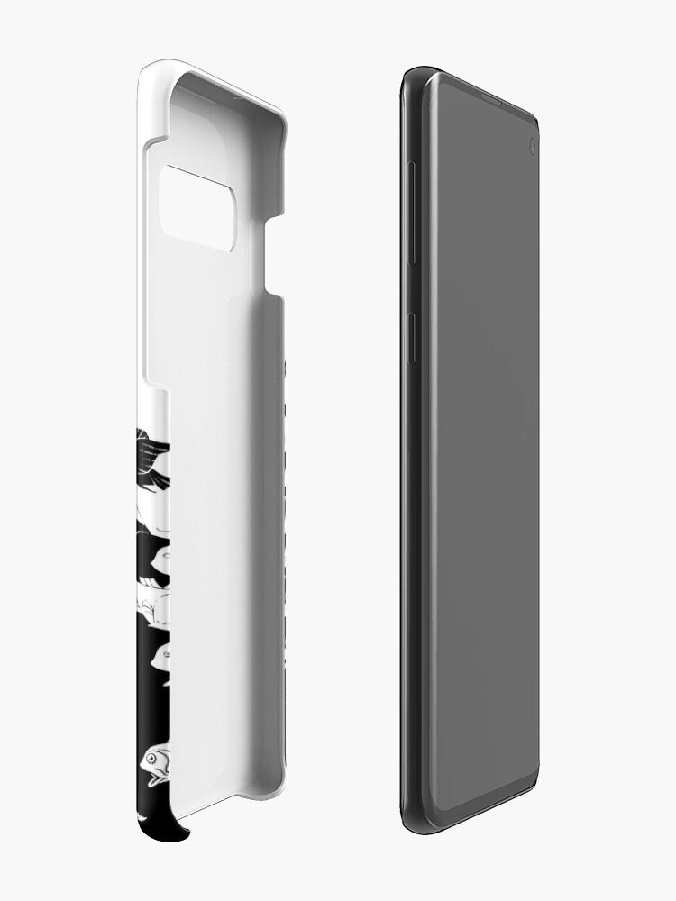 Alternative Ansicht von Fisch und Vögel Art Deco Tessellation Hüllen & Klebefolien für Samsung Galaxy