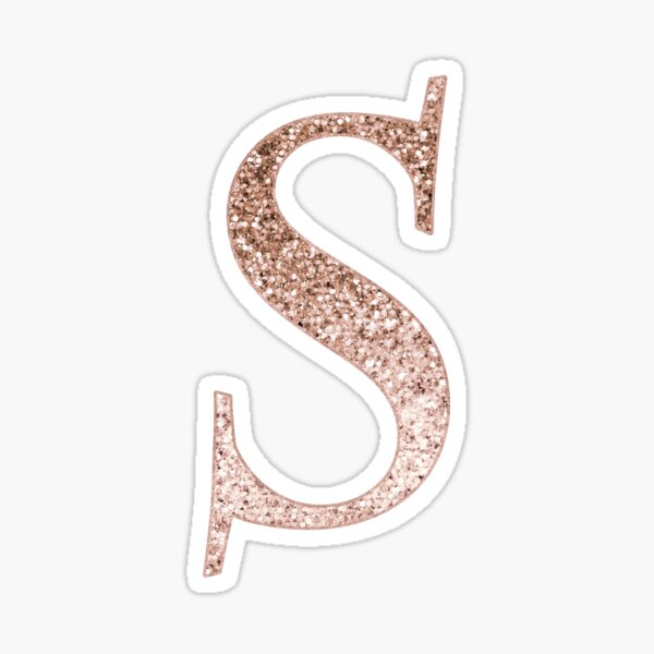 BEAUTIFUL ROSE GOLD STYLISED NUMBER GLITTER STICKERS FOR CARDS AND CRAFTS