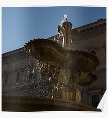 Rome's Fabulous Fountains - Piazza Farnese Fountain Poster