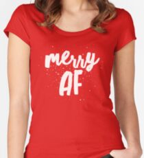 Merry AF Women's Fitted Scoop T-Shirt