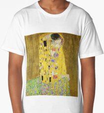 Gustav Klimt The Kiss 1907 Long T-Shirt