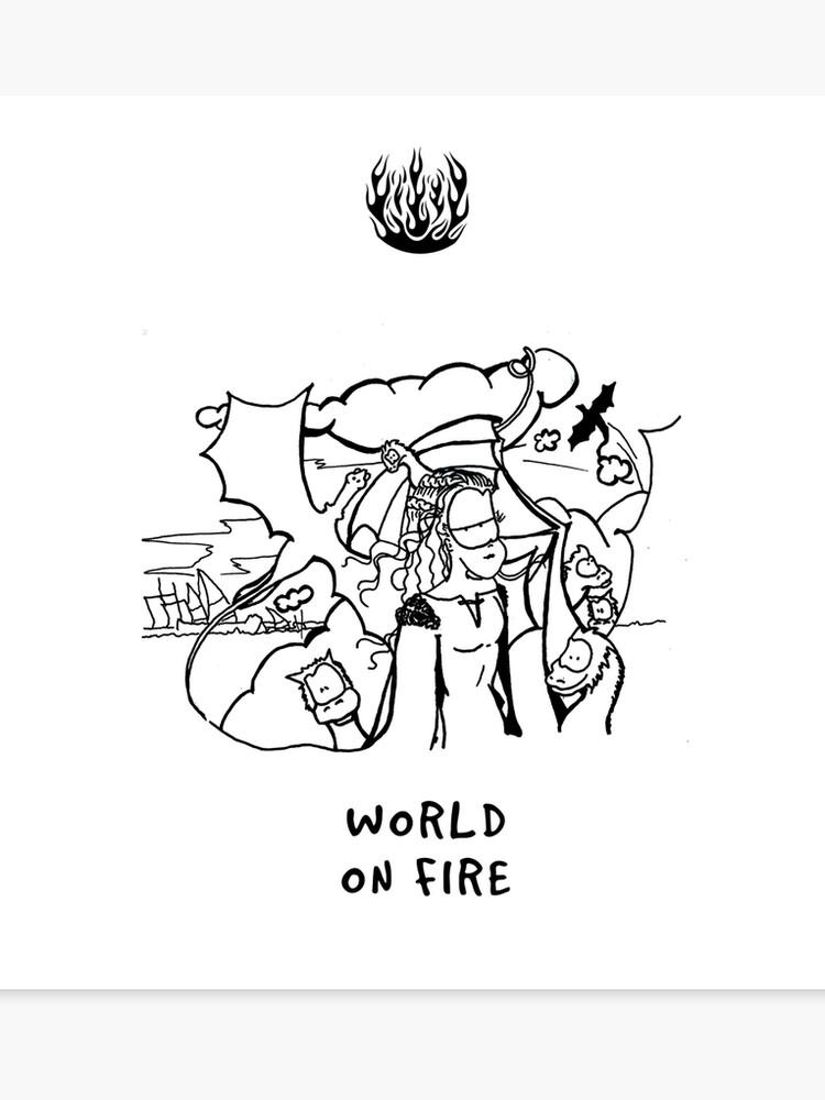 World on fire  Game of Trosmas    Canvas Print