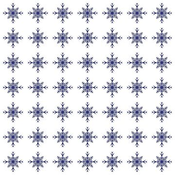 Christmas Pattern Series - Snowflake 3 Dark Blue by Ian2Danim