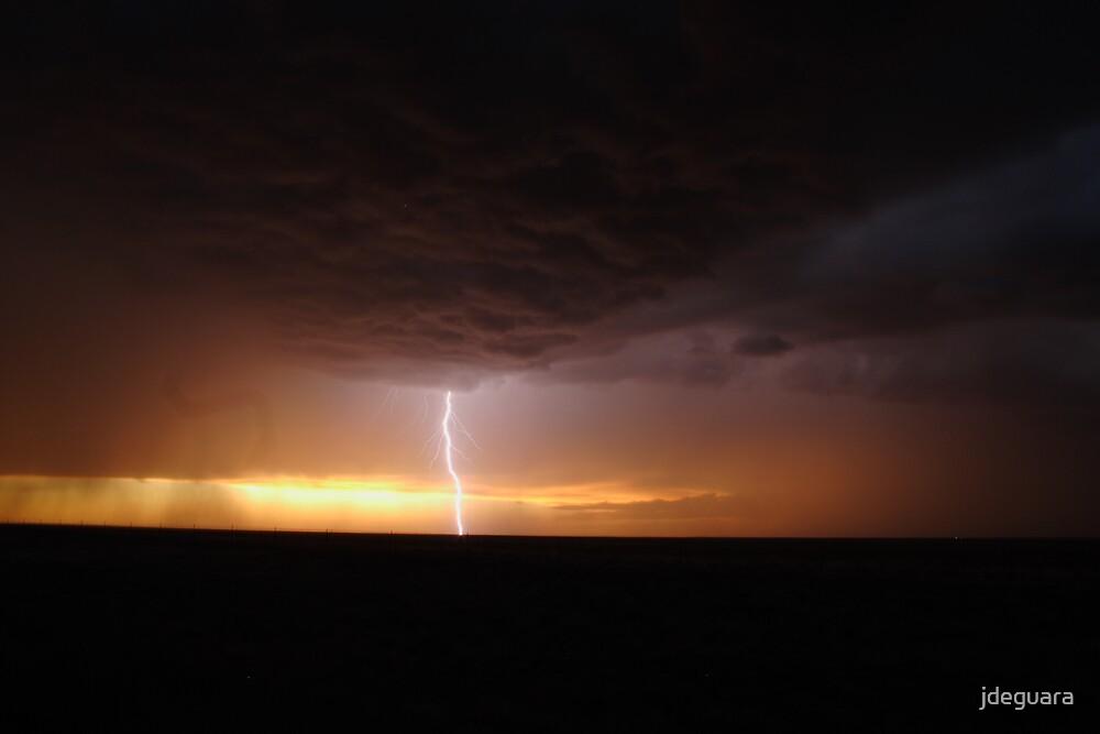 sunset and lightning Colorado USA by jdeguara