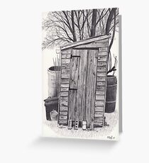Allotment Shed 2 Greeting Card