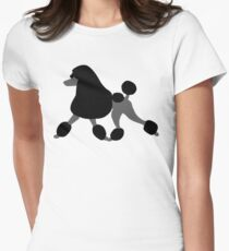 Black Poodle Women's Fitted T-Shirt
