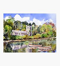 St Just in Roseland Church Photographic Print
