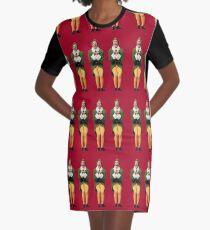 SANTA! OH MY GOD! SANTA'S COMING! I KNOW HIM! I KNOW HIM! Graphic T-Shirt Dress