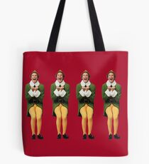 SANTA! OH MY GOD! SANTA'S COMING! I KNOW HIM! I KNOW HIM! Tote Bag