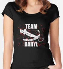 Team Daryl The Walking Dead Women's Fitted Scoop T-Shirt