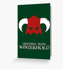 Skyrim - greetings from winterhold Greeting Card