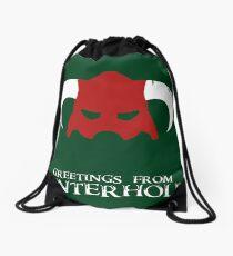 Skyrim - greetings from winterhold Drawstring Bag