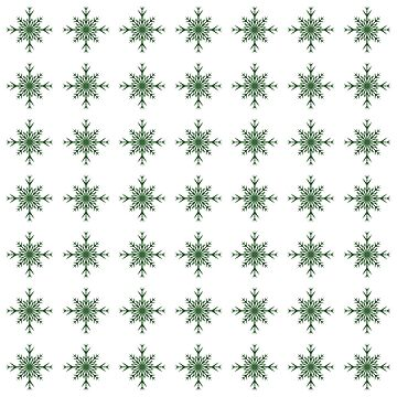 Christmas Pattern Series - Snowflake 3 Dark Green by Ian2Danim