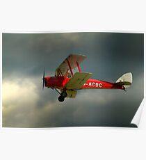 DH82a - DE HAVILLAND TIGER MOTH / G-ACDC (DELTA CHARLIE)  Poster