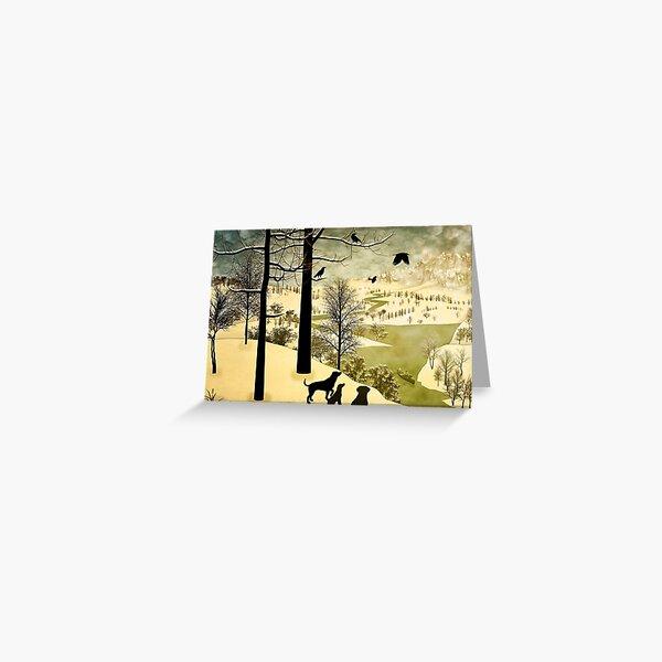 Explore Bruegel Hunters Greeting Card