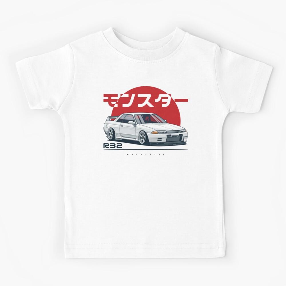 Monster. Skyline R32 GTR Kids T-Shirt