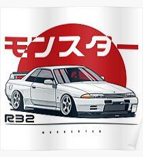 Monster. Skyline R32 GTR Poster