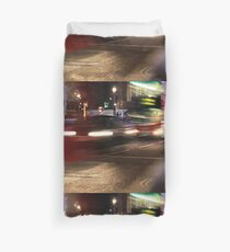 Evening Rush at Piccadilly Circus, London Duvet Cover
