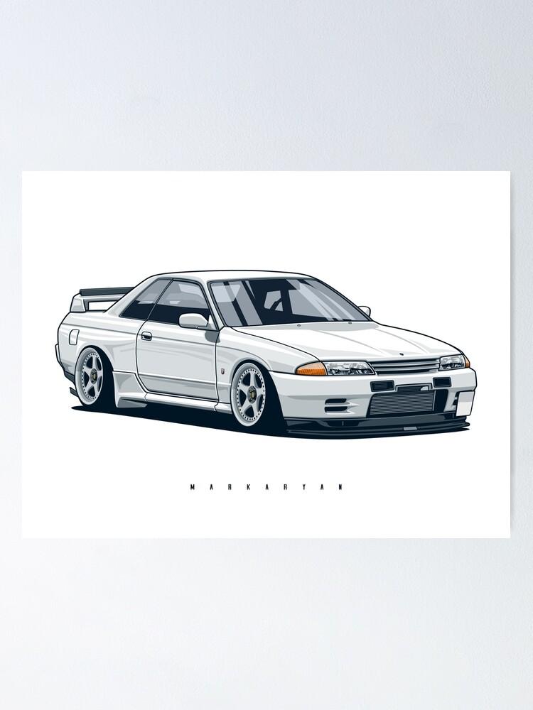 Alternate view of Monster. Skyline R32 GTR Poster