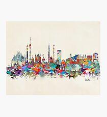 Delhi india skyline Photographic Print