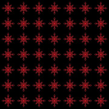 Christmas Pattern Series - Snowflake 3 Light Red by Ian2Danim