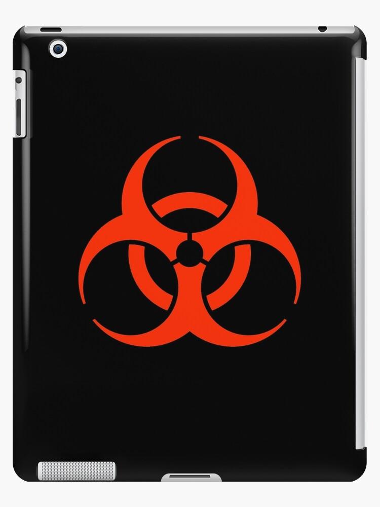 Bio Hazard Warning Biohazard Symbol Biological Hazard Red On