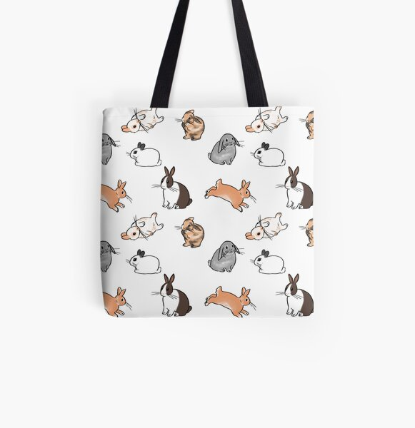Bunnies All Over Print Tote Bag
