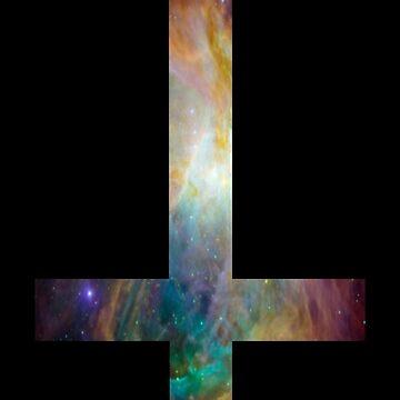 Rainbow Galaxy Inverted Cross by rapplatt