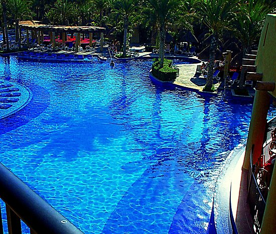 This is the life. . . Cabo Resort Poolside by Karen L Ramsey
