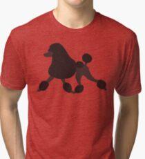 Chocolate Poodle Tri-blend T-Shirt