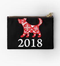 2018 Chinesisches Jahr des Hundes Frohes Neues Jahr Täschchen