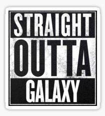 Straight Outta Galaxy Sticker