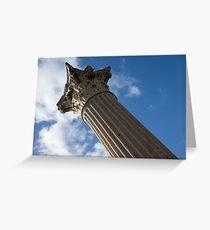 The Grandeur of Pompeii - a Corinthian Capital Column in the Sky Greeting Card