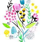 Wildflowers - White by makemerriness