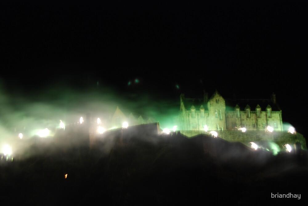 Edinburgh Castle with Fireworks by briandhay