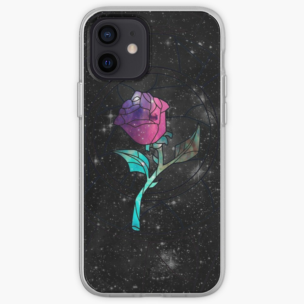 Stained Glass Rose Galaxy iPhone Case & Cover