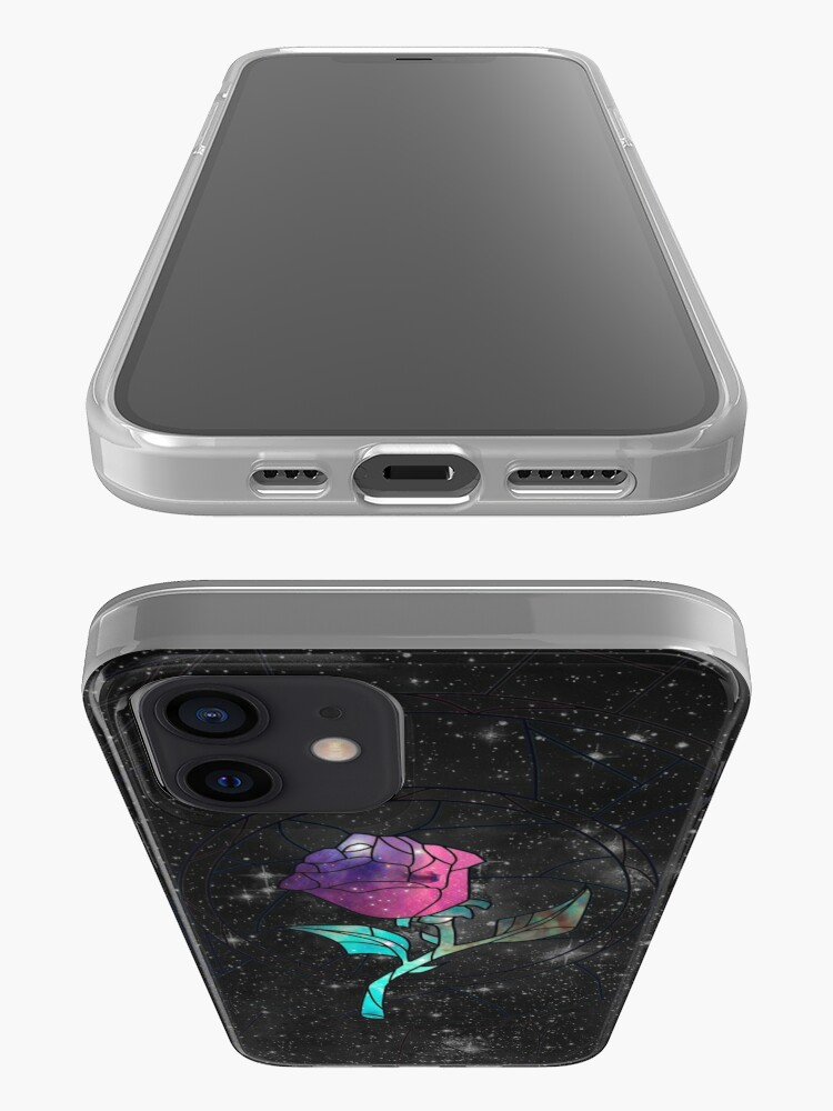 Alternate view of Stained Glass Rose Galaxy iPhone Case & Cover