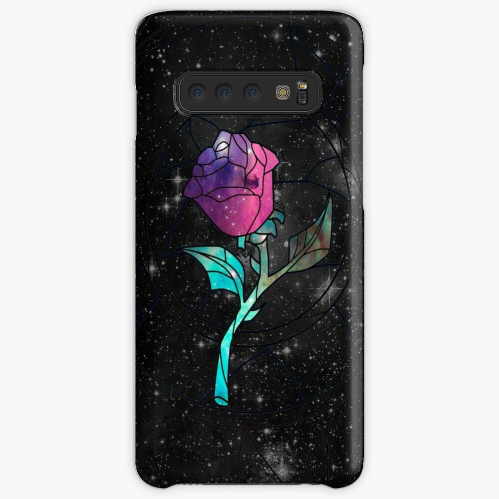 Stained Glass Rose Galaxy Case & Skin for Samsung Galaxy