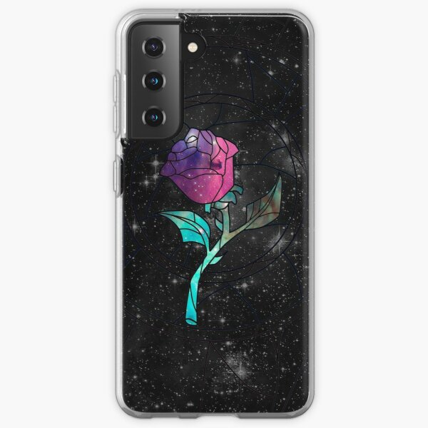Stained Glass Rose Galaxy Samsung Galaxy Soft Case