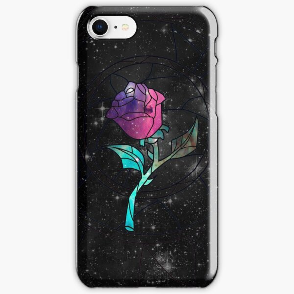 Stained Glass Rose Galaxy iPhone Snap Case