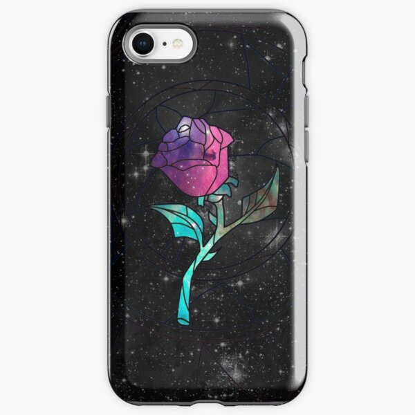 Stained Glass Rose Galaxy iPhone Tough Case
