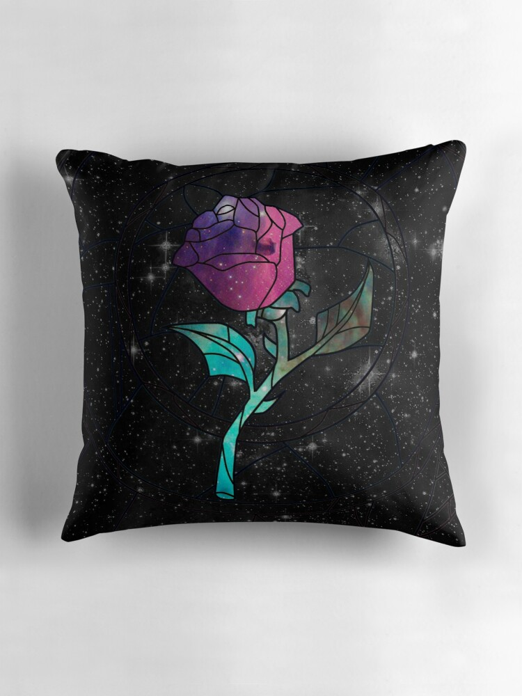 Quot Stained Glass Rose Galaxy Quot Throw Pillows By Rapplatt