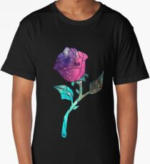 Stained Glass Rose Galaxy Long T-Shirt