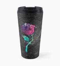 Stained Glass Rose Galaxy Travel Mug