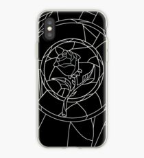 Stained Glass Rose Black iPhone Case
