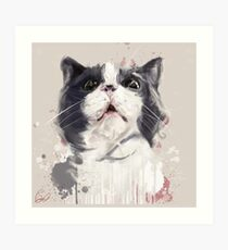 Project Caturday - Smudge too Art Print