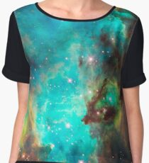 Green Galaxy Women's Chiffon Top