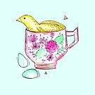 Quail In A Teacup by makemerriness